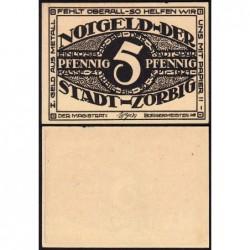 Allemagne - Notgeld - Zörbig - 5 pfennig - Série I - 1921 - Etat : pr.NEUF