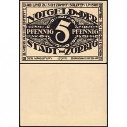 Allemagne - Notgeld - Zörbig - 5 pfennig - Série III - 1921 - Etat : NEUF