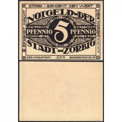 Allemagne - Notgeld - Zörbig - 5 pfennig - Série IV - 1921 - Etat : NEUF