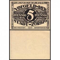 Allemagne - Notgeld - Zörbig - 5 pfennig - Série V - 1921 - Etat : NEUF