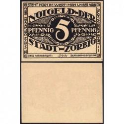 Allemagne - Notgeld - Zörbig - 5 pfennig - Série VII - 1921 - Etat : NEUF