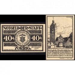 Allemagne - Notgeld - Zörbig - 10 pfennig - Série II - 1921 - Etat : NEUF