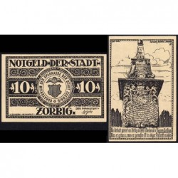 Allemagne - Notgeld - Zörbig - 10 pfennig - Série III - 1921 - Etat : NEUF