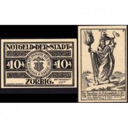 Allemagne - Notgeld - Zörbig - 10 pfennig - Série IV - 1921 - Etat : NEUF