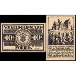 Allemagne - Notgeld - Zörbig - 10 pfennig - Série V - 1921 - Etat : SPL