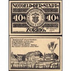 Allemagne - Notgeld - Zörbig - 10 pfennig - Série VI - 1921 - Etat : NEUF