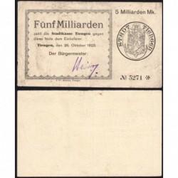 Allemagne - Notgeld - Tiengen - 5 milliards mark - 26/10/1923 - Etat : TTB