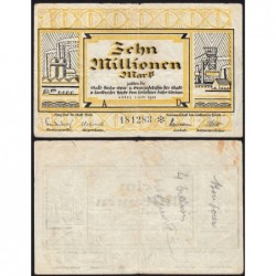 Allemagne - Notgeld - Hörde - 10 millions mark - Série A - 01/09/1923 - Etat : TB+
