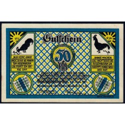 Russie - Baltique - Billet de nécessité - Ville de Kaliningrad (Königsberg) - 50 pfennig - 23/05/1921 - Etat : SPL+