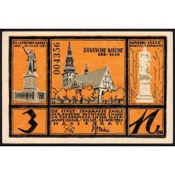 Russie - Baltique - Billet de nécessité - Ville de Sovetsk (Tilsit) - 3 mark - 23/05/1921 - Etat : SPL+