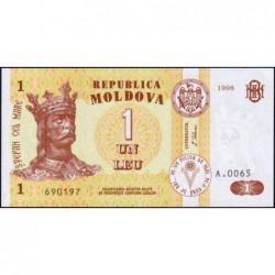 Moldavie - Pick 8c - 1 leu - Série A.0065 - 1998 - Etat : NEUF