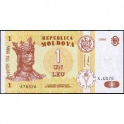 Moldavie - Pick 8c - 1 leu - Série A.0070 - 1998 - Etat : NEUF