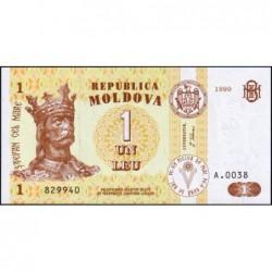 Moldavie - Pick 8d - 1 leu - Série A.0038 - 1999 - Etat : NEUF