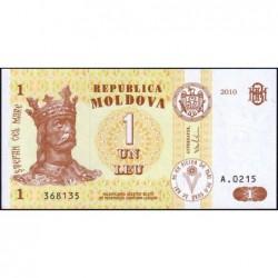 Moldavie - Pick 8h - 1 leu - Série A.0215 - 2010 - Etat : NEUF