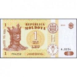 Moldavie - Pick 8h - 1 leu - Série A.0234 - 2010 - Etat : NEUF