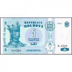 Moldavie - Pick 9a - 5 lei - Série B.0069 - 1994 - Etat : NEUF