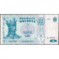 Moldavie - Pick 9e - 5 lei - Série B.0029 - 2006 - Etat : TTB