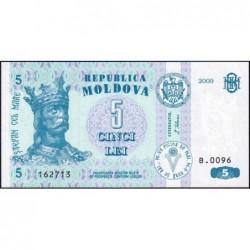 Moldavie - Pick 9f - 5 lei - Série B.0096 - 2009 - Etat : NEUF