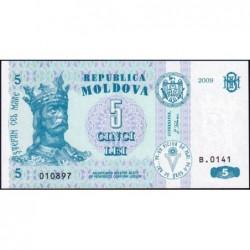 Moldavie - Pick 9f - 5 lei - Série B.0141 - 2009 - Etat : NEUF