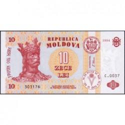 Moldavie - Pick 10a - 10 lei - Série C.0037 - 1994 - Etat : NEUF