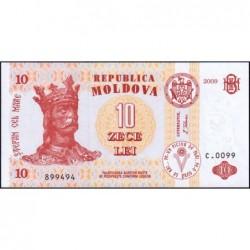 Moldavie - Pick 10f - 10 lei - Série C.0099 - 2009 - Etat : NEUF