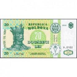 Moldavie - Pick 13i - 20 lei - Série D.0102 - 2010 - Etat : NEUF