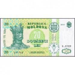 Moldavie - Pick 13i - 20 lei - Série D.0109 - 2010 - Etat : NEUF