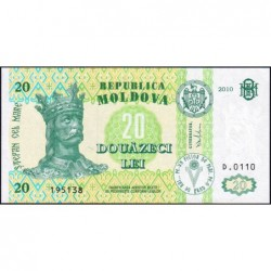 Moldavie - Pick 13i - 20 lei - Série D.0110 - 2010 - Etat : NEUF
