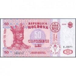 Moldavie - Pick 14e - 50 lei - Série E.0071 - 2008 - Etat : NEUF