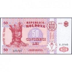 Moldavie - Pick 14f - 50 lei - Série E.0160 - 2013 - Etat : NEUF