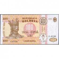 Moldavie - Pick 15b - 100 lei - Série F.0130 - 2008 - Etat : NEUF