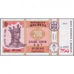 Moldavie - Pick 20 - 200 lei - Série G.0035 - 2013 - Commémoratif - Etat : NEUF
