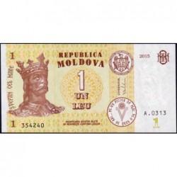Moldavie - Pick 21a - 1 leu - Série A.0313 - 2015 - Etat : NEUF