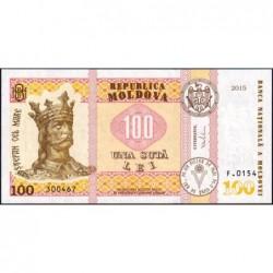 Moldavie - Pick 25a - 100 lei - Série F.0154 - 2015 - Etat : NEUF