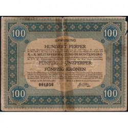 Monténégro - Pick M 154 - 100 perper - 20/11/1917 - Etat : B