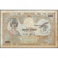 Yougoslavie - Monténégro - Pick R 15 - 1'000 dinara - 01/12/1931 (1941) - Etat : TB+