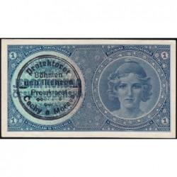 Bohême-Moravie - Pick 1a - 1 koruna - 1940 - Série A007 - Etat : SPL+