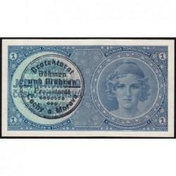Bohême-Moravie - Pick 1a - 1 koruna - 1940 - Série A071 - Etat : NEUF