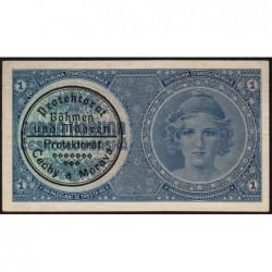 Bohême-Moravie - Pick 1b - 1 koruna - 1940 - Série A021 - Etat : NEUF
