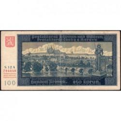 Bohême-Moravie - Pick 6a - 100 korun - 20/08/1940 - Série 12A - Etat : TB