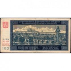 Bohême-Moravie - Pick 6a - 100 korun - 20/08/1940 - Série 26A - Etat : TB+
