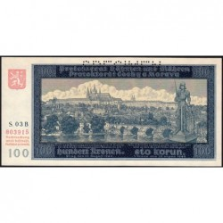 Bohême-Moravie - Pick 6s - 100 korun - 20/08/1940 - Série 03B - Spécimen - Etat : NEUF