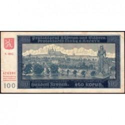Bohême-Moravie - Pick 7a_2 - 100 korun - 20/08/1940 - Série 09G - Etat : TB+