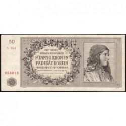 Bohême-Moravie - Pick 10s - 50 korun - 25/09/1944 - Série 35A - Spécimen - Etat : pr.NEUF