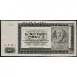 Bohême-Moravie - Pick 15s - 1'000 korun - 24/10/1942 - Série Ha - Spécimen - Etat : pr.NEUF