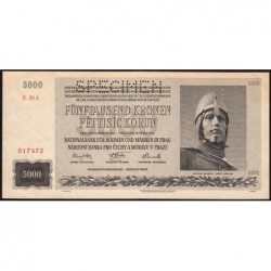 Bohême-Moravie - Pick 17s - 5'000 korun - 24/02/1944 - Série 20A - Spécimen - Etat : pr.NEUF