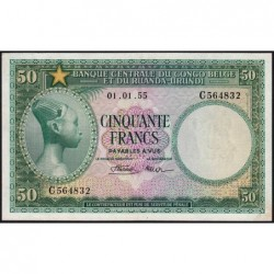 Congo Belge - Pick 27b - 50 francs - 01/01/1955 - Série C - Etat : SUP