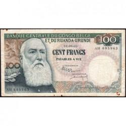 Congo Belge - Pick 33c - 100 francs - Série AM - 01/09/1960 - Etat : TB+
