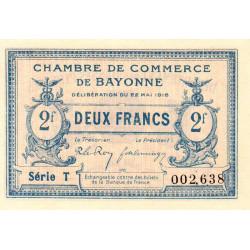 Bayonne - Pirot 21-36 - 2 francs - Série T - 22/05/1916 - Etat : NEUF