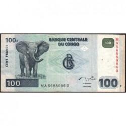 Rép. Démocr. du Congo - Pick 92A - 100 francs - Série MA Q - 04/01/2000 - Etat : TB